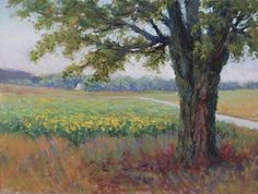 Under the Shady Maple by Kathleen Kalinowski Pastel ~ 9 x 12