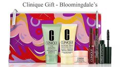 Receive up to a 12-piece Clinique gift at Bloomingdale's. Start with a 7-piece gift - free when you spend $33 or more. Lotion, Clinique Gift, Dillards, Cosmetic Bag, Free Gifts, Creme, Cosmetics, Promotional Giveaways, Lotions