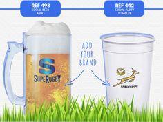 Lumo Beer Mug - Clear Polystyrene or Solid Colours. Minimum order of Optional Branding. REF beer mug REF party tumbler Stadium Cushions, Plastic Mugs, Outdoor Cushions, Water Bottles, Pint Glass, Tumblers, Coffee Mugs, Parties, Beer