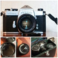 Honeywell Pentax Spotmatic with three lenses and a case!