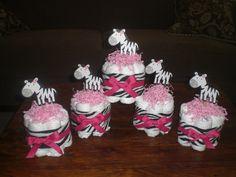 zebra mini cakes