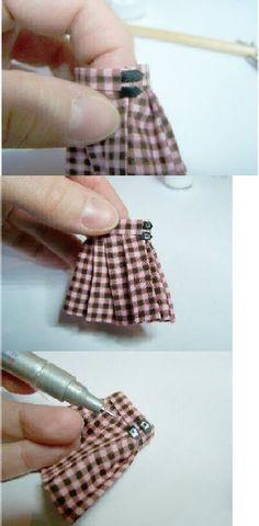 Dollhouse Kilt/Skirt Tutorial - 12th scale miniature by CWPoppets