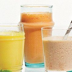 Gingered Carrot Smoothies | CookingLight.com #myplate #vegetables