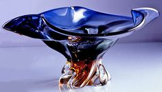 Cobalt and Amber Glass Bowl, Bowls, Tabletop, Home Furnishings - The Museum Shop of The Art Institute of Chicago