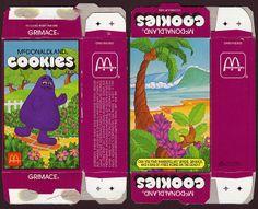 McDonalds - McDonaldland Cookies 1987 box - Grimace | Flickr - Photo Sharing!