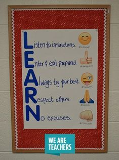 19 Classroom Management Anchor Charts - WeAreTeachers