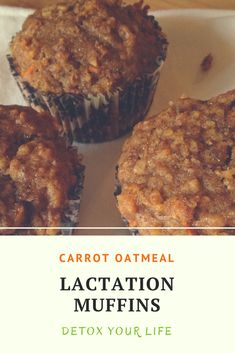 Are you having trouble with your milk supply? These lactation muffins are healthy and they are loaded with fiber. The ingredients that help with milk supply are oats, flax, carrots and almonds.