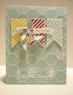 Pinwheel Wishes - Hearts a Flutter, honey comb embossing folder