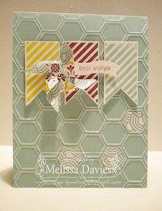 Pinwheel Wishes - Hearts a Flutter, honey comb embossing folder