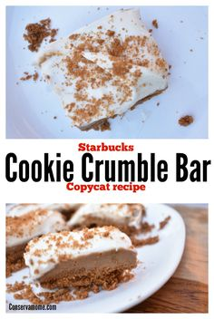 This delicious Starbucks Cookie Crumble Bar Copycat Recipe made with Speculoos Cookies will be the perfect treat! Check out how easy it is to make these Speculoos Cookie bars at home! Köstliche Desserts, Best Dessert Recipes, Cookie Recipes, Delicious Desserts, Bar Recipes, Sweet Recipes, Yummy Food, Cobbler, Kitchens