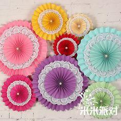 15cm20cm30cm tres abanico de papel decorado boda suministros fiesta de cumpleaños de la flor de papel origami flor