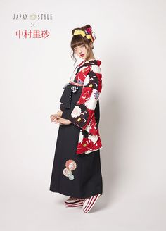 袴 JN-5 Japan Fashion, All Fashion, Fashion Outfits, Japanese Uniform, Japanese Outfits, Kimono Japan, Japanese Kimono, Traditional Fashion, Traditional Dresses