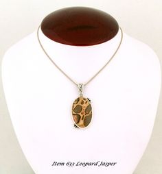 BLG offering a Leopard Jasper Necklace with a Southwestern flare for the Discriminating user