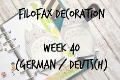 Filofax Decoratin Week 40  (german/deutsch)