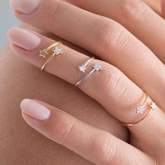 Tiny Star Rings Set