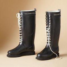 Lace-up rain boots