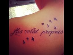 """Stands for """"she flies with her own wings"""" This with or without the birds, havent decided. Sobriety sleeve<3"""
