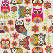 New Little Owls by valentinaharper, Spoonflower digitally printed fabric