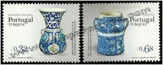 Selos - Afinsa nr 3844/45 (Portugal-Turquia 2009). - 2009 - Faiança - Emissão Conjunta com a Turquia