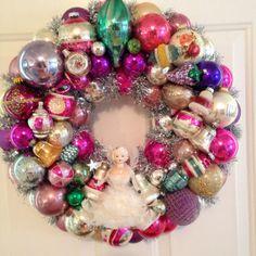 Chic Pink Purple Vintage Ornament Wreath  by SugarPlumWreaths, $250.00