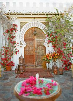 Moroccan courtyard {enmiespaciovital blog}