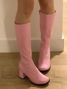 Dr Shoes, Swag Shoes, Me Too Shoes, Shoes Heels, Boot Heels, Knee Boots, Aesthetic Shoes, Pink Aesthetic, Aesthetic Clothes