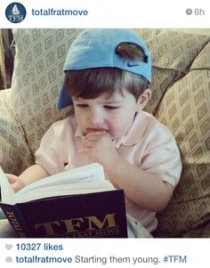 Starting them young. #tfm