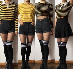 Grunge Outfits ideas with Fishnet Tights Grunge Outfits, Hipster Outfits, Edgy Outfits, Mode Outfits, Grunge Fashion, Short Outfits, Cute Fashion, Pretty Outfits, Fashion Outfits