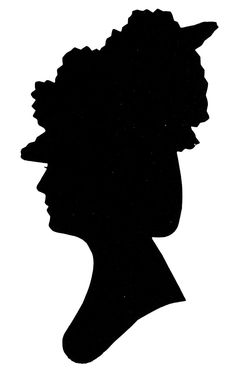 Silhoutte of Jane Austen's maternal aunt by marriage, Mrs. Leigh-Perrot in a fantastic looking hat.