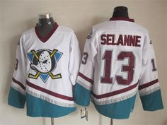 NHL Throwback Jerseys Anaheim Ducks #13 selanne white Jerseys