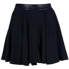SAINT LAURENT pleated skirt ($855) ❤ liked on Polyvore featuring skirts, bottoms, saias, faldas, yves saint laurent, high rise skirts, knee length pleated skirt, blue pleated skirt and high-waist skirt