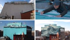 Watch How This Large Wave Mural In New Jersey Was Painted By Shepard Fairey