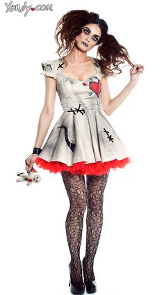 """Voodoo Doll Costume - Mardi Gras party dress up ideas for the murder mystery """"voodoo in the big easy"""" - see www.bepartofthemystery.com"""
