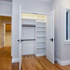 Coat closet design ideas hallway closet ideas hall closet storage how to organize a closet hall Front Hall Closet, Hallway Closet, Kid Closet, Closet Bedroom, Closet Doors, Master Closet, Closet Office, Master Bedroom, Closet Redo
