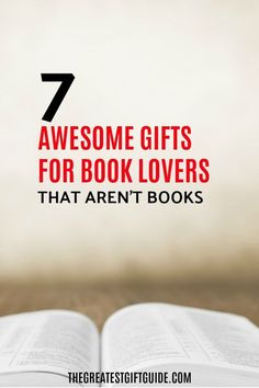 If you're looking for a different kind of gift ideas for a book lover, then check out our gift guide featuring 7 cool gifts for book worms that AREN'T books. Give the reader in your life a unique gift that will compliment their reading passion.