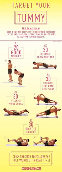 Firm Up your Abdominals from the Full Body Workout at Cosmo Mag
