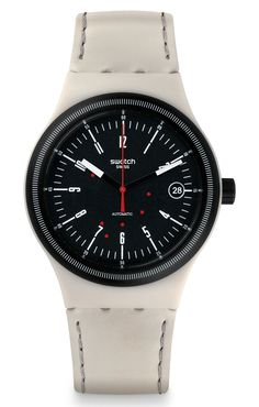 "Swatch Sistem51 Watch – Cool New Styles For 2015 ""Everyone's favorite fully robot-produced mechanical Swiss watches - the Swatch Sistem51 - is back for 2015 with five new styles that add to the original Sistem51 collection. Swatch debuted the exciting Sistem51 model range back in 2013 These new Sistem51 collection watches offer more traditional looks with the entry-level ""100% Swiss"" automatic mechanical timepieces."""