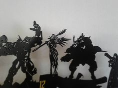 Overwatch heroes wooden wall clock