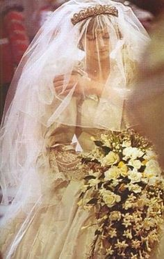 Princess Diana on her wedding day - July 29, 1981