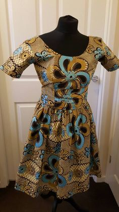 Ankara midi dress/african print short dress - pinned by pin4etsy.com