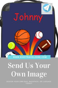 Our kids luggage line and personalized rolling suitcases make the perfect gift. Order your child's suitcase today and Kids Travel Zone will customize and ship within 2 business days! Kids Luggage, Carry On Luggage, Kids Backpacks, Our Kids, Travel With Kids, Design Your Own, Travel Style, Suitcase, Awesome