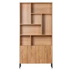 Woood Gravure Boekenkast House Front Design, Scandinavian Interior Design, Hard Floor, Loft Style, Room Inspiration, Bookcase, Modern Design, Sweet Home, Shelves