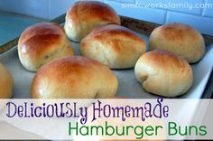 Deliciously Homemade Hamburger Buns - way better than store bought!