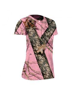 Tee-shirt femme Mossy Oak Pink Arborez votre passion avec style avec ce tee-shirt camouflage rose. Un accessoire idéal et indispensable pour les femmes amoureuses de la nature.  Le camouflage rose Mossy Oak Break Up Pink confère à ce tee-shirt un look moderne et élégant, pour être portée en toute circonstance à la chasse comme à la ville.