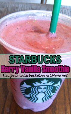 Starbucks Berry Vanilla Smoothie! Delicious, coconut, vanilla and berries make this smoothie irresistable!