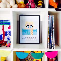Just added to the shop - #minecraft #frozen #elsa skin #personalised print