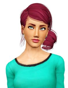 Newsea`s Roll Cake hairstyle retextured by Pocket for Sims 3 - Sims Hairs - http://simshairs.com/newseas-roll-cake-hairstyle-retextured-by-pocket/