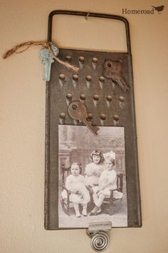 vintage cheese grater photo holder www.homeroad.net