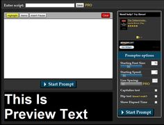 "Can't remember your lines? Easy Prompter is a free, web-based, online and offline teleprompter!"" Great tool for students."