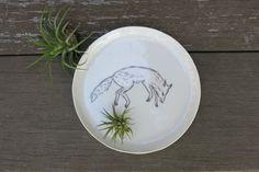 Ceramic Woodland Fox Hand Drawn Fine Art by ShadyGrovePottery